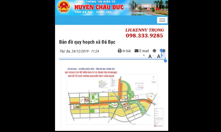 Bán đất hai mặt tiền 167m đường lớn Bình Giã - Đá Bạc diện tích 6000m2